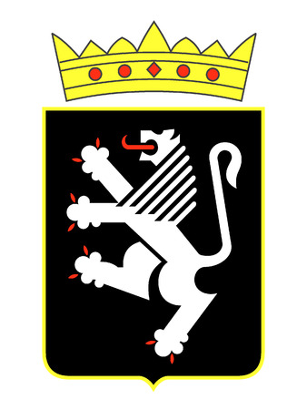 Coat of Arms of the Italian Region of Aosta Valley Ilustrace