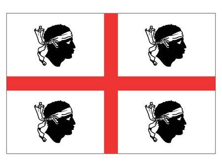 Flag of Italian region of Sardinia