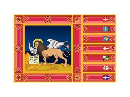 Flag of Italian region of Veneto 向量圖像