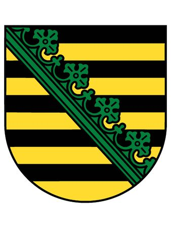 Coat of arms of the German State of Saxony