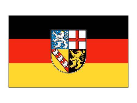Flag of the German State of Saarland Stock Illustratie