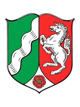 Coat of arms of the German State of North Rhine Westphalia