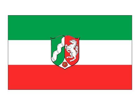 Flag of the German State of North Rhine Westphalia