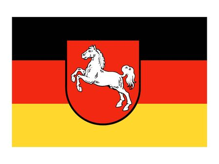 Flag of the German State of Lower Saxony Standard-Bild - 131061111