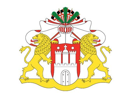 Coat of arms of the German State of Hamburg