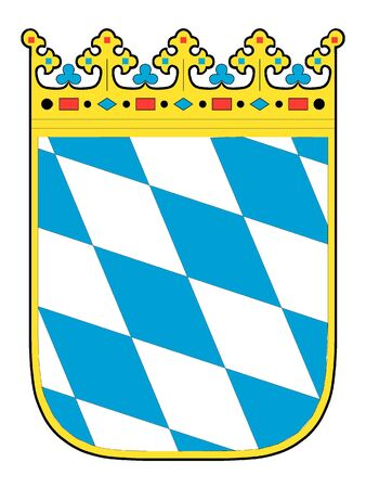 Lesser Coat of Arms of the German State of Bavaria Illustration