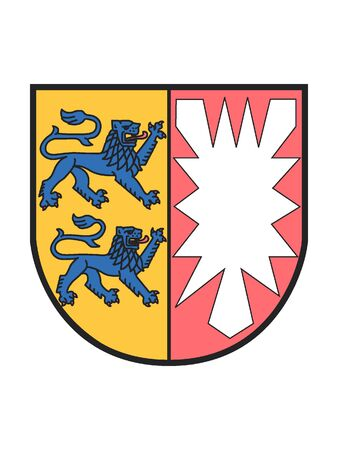 Lesser Coat of Arms of the German State of Schleswig-Holstein Illustration