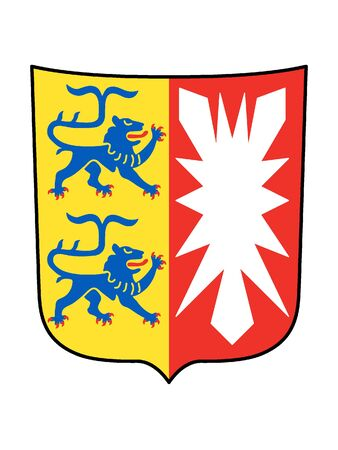 Coat of Arms of the German State of Schleswig-Holstein Illustration