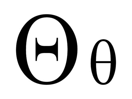 Uppercase and Lowercase Greek Alphabet Letter Theta Archivio Fotografico - 131061533