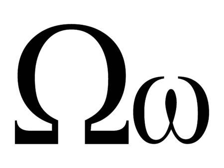 Uppercase and Lowercase Greek Alphabet Letter Archivio Fotografico - 131061547