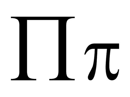 Uppercase and Lowercase Greek Alphabet Letter Pi