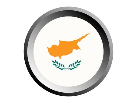 Round National Flag of Cyprus
