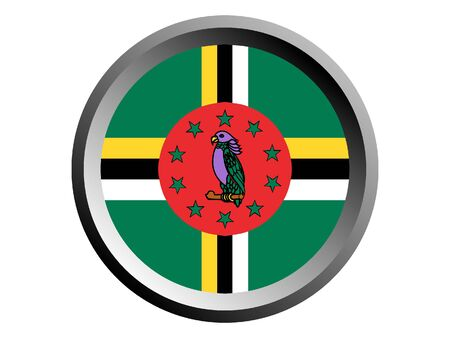 Round National Flag of Dominica