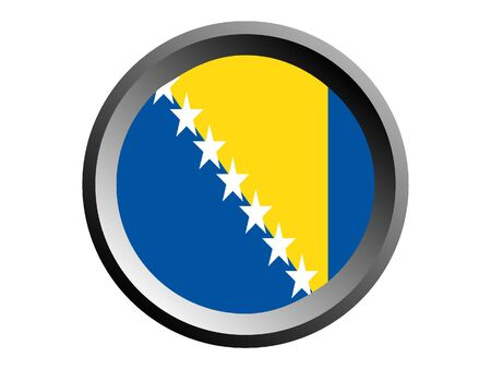 Round National Flag of Bosnia and Herzegovina