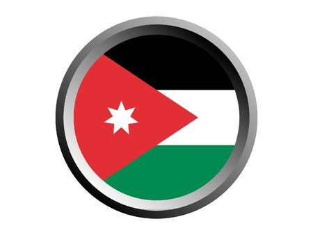 Round National Flag Of Jordan