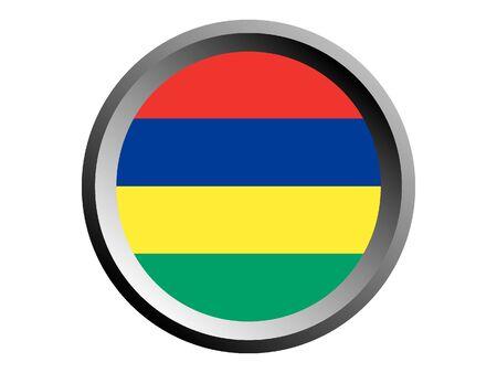 Round National Flag of Mauritius