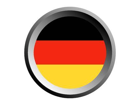 Round National Flag of Germany Stock Illustratie