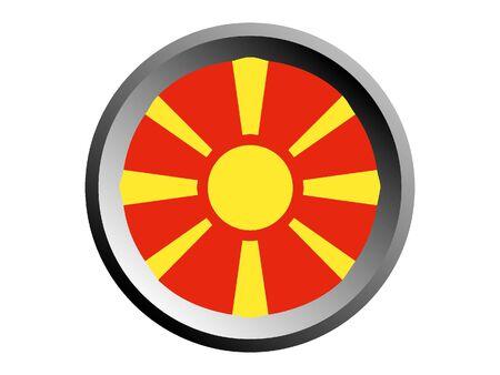 Round National Flag of Macedonia