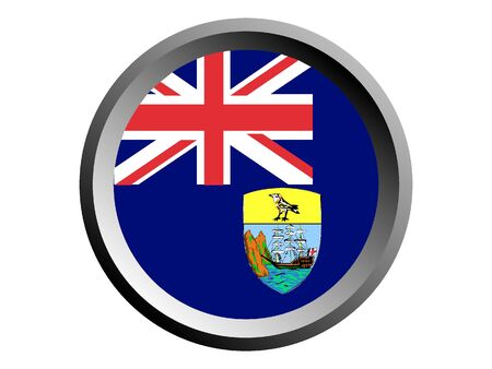 Round National Flag of Saint Helena, Ascension and Tristan da Cunha Illustration