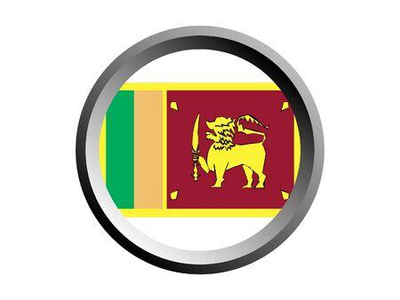 Round National Flag of Sri Lanka Ilustração