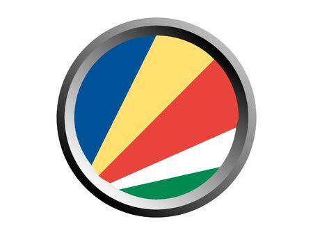 Round National Flag of Seychelles