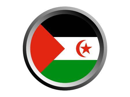 Round National Flag of Western Sahara