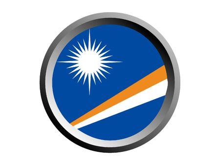 Round National Flag of Marshall Islands  イラスト・ベクター素材