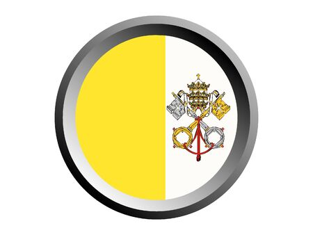 Round National Flag Of Vatican