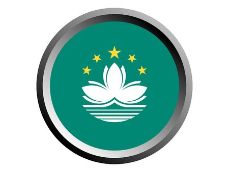 Round National Flag Of Macau