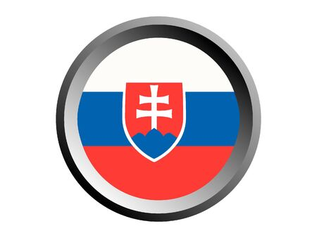 Round National Flag of Slovakia