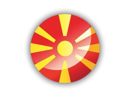 Shiny Round National Flag of North Macedonia