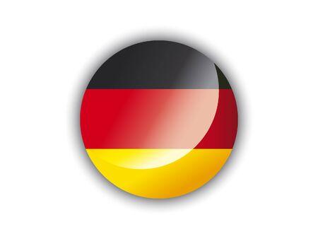 Shiny Round National Flag of Germany