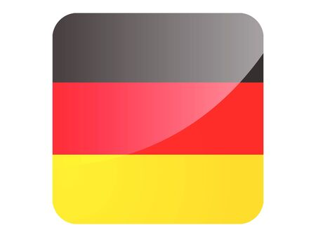 Large Shiny Reflection Square Flag of Germany Stock Illustratie