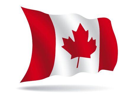 Wavy Shiny Flag of Canada