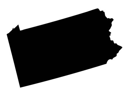 Black Map of Pennsylvania