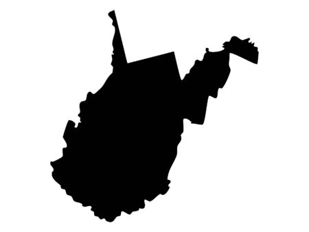 Black Map of West Virginia