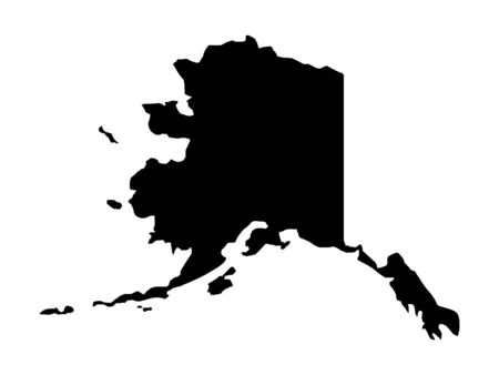 Black Map of Alaska
