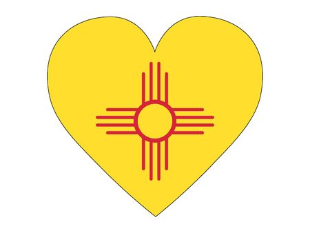 US State of New Mexico Heart Flag