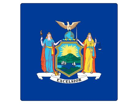 US State of New York Square Flag