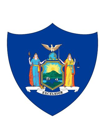 US State of New York Shield Flag