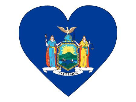 US State of New York Heart Flag