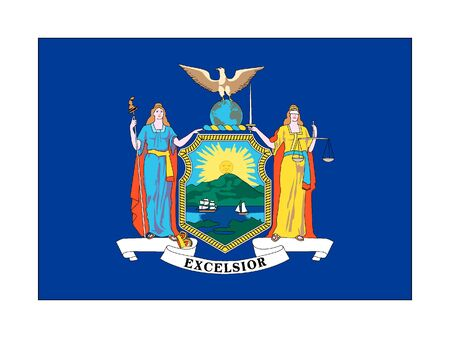 US State of New York Flag 일러스트
