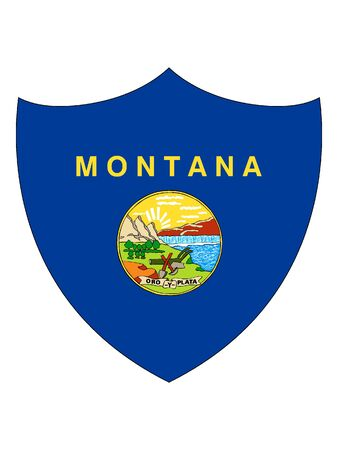 US State of Montana Shield Flag