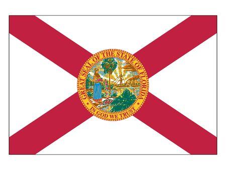 US State of Florida Flag Illustration