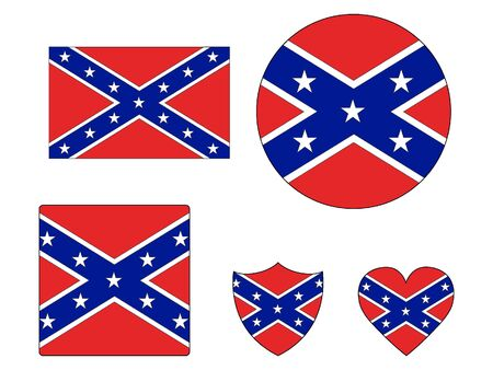 US Confederate Flags Set
