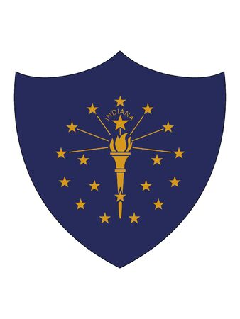 US State of Indiana Shield Flag