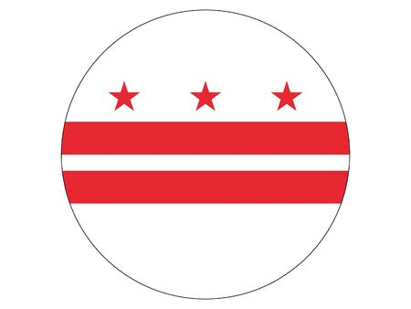 Washington DC Round Flag