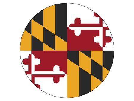 Maryland Round Flag