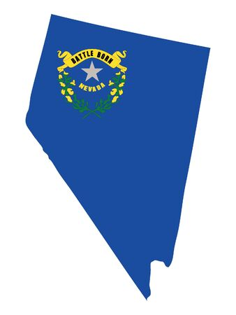 Map and Flag of Nevada