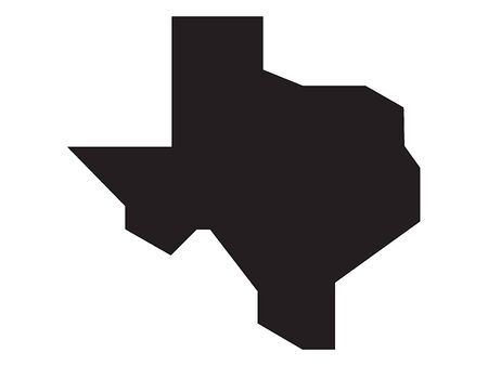 Simplified Black Texas Map